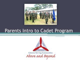 Parents Intro to Cadet Program