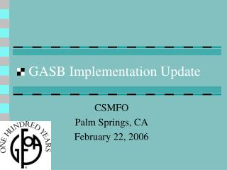 GASB Implementation Update