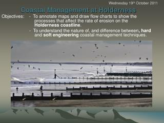 Coastal Management at Holderness