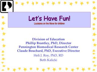 Let's Have Fun! Louisiana on the Move for children