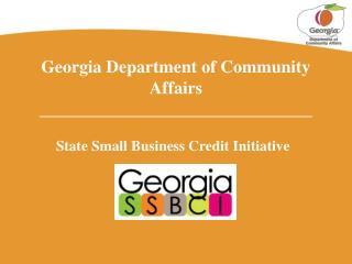 Georgia Department of Community Affairs _______________________________