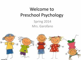 Welcome to Preschool Psychology