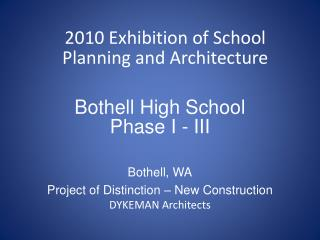 Bothell High School Phase I - III