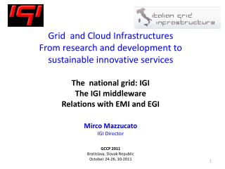 Italian Grid Initiative (IGI)