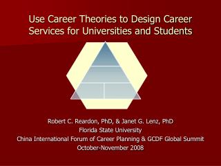 Use Career Theories to Design Career Services for Universities and Students