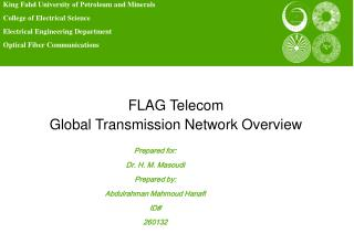 FLAG Telecom Global Transmission Network Overview