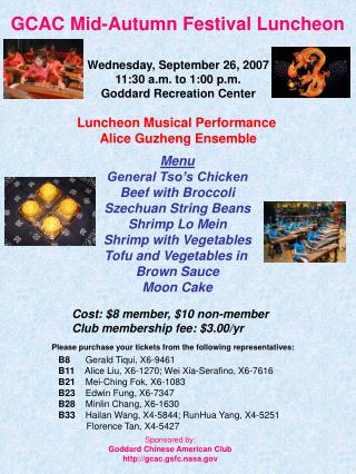 GCAC Mid-Autumn Festival Luncheon