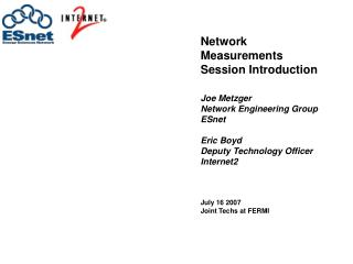 Network Measurements Session Introduction