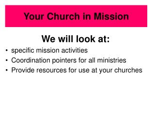 Your Church in Mission