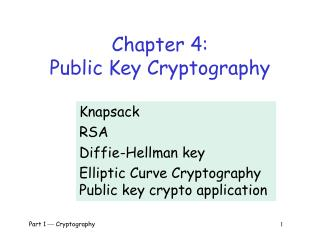 Chapter 4: Public Key Cryptography