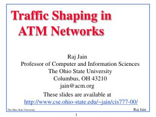 Traffic Shaping in ATM Networks