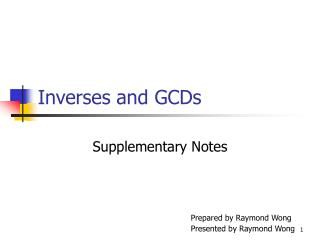Inverses and GCDs