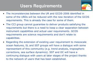 Users Requirements