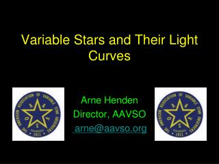 Variable Stars and Their Light Curves