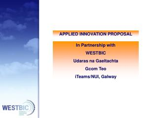 APPLIED INNOVATION PROPOSAL