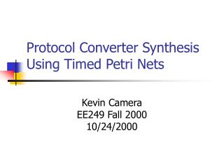 Protocol Converter Synthesis Using Timed Petri Nets