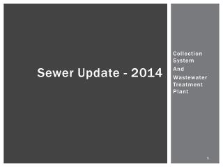 Sewer Update - 2014