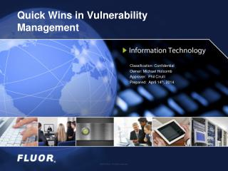 Quick Wins in Vulnerability Management