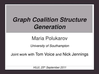 Graph Coalition Structure Generation