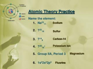 Atomic Theory Practice