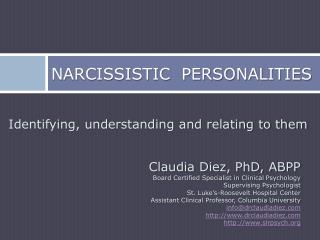 Narcissistic  Personalities