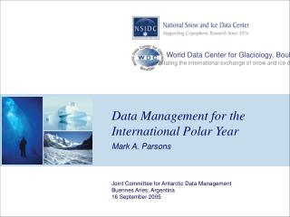 Data Management for the International Polar Year