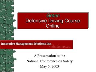 Green Defensive Driving Course Online