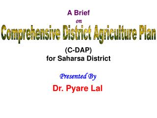 A Brief  on (C-DAP) for Saharsa District