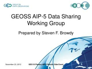 GEOSS AIP-5 Data Sharing Working Group