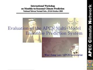 International Workshop  on Monthly-to-Seasonal Climate Prediction