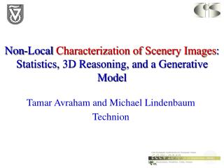 Non-Local  Characterization of Scenery Images : Statistics, 3D Reasoning, and a Generative Model