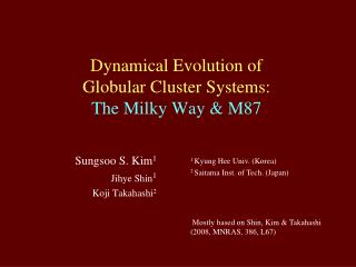 Dynamical Evolution of Globular Cluster Systems: The Milky Way & M87