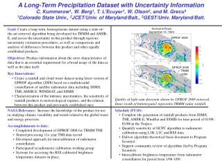 A Long-Term Precipitation Dataset with Uncertainty Information