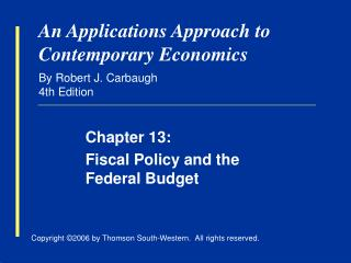 An Applications Approach to Contemporary Economics By Robert J. Carbaugh 4th Edition