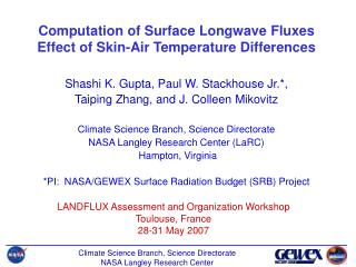 Computation of Surface Longwave Fluxes Effect of Skin-Air Temperature Differences