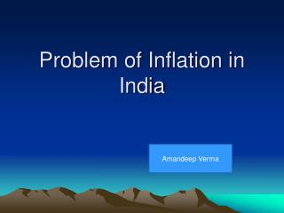 Problem of Inflation in India