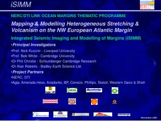 NERC/DTI LINK OCEAN MARGINS THEMATIC PROGRAMME