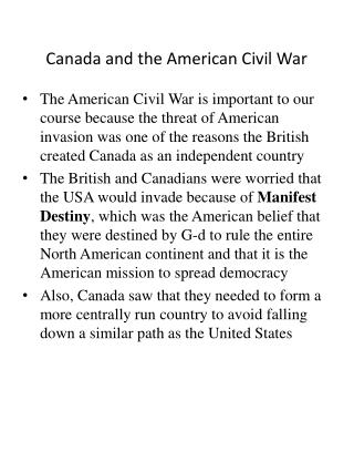 Canada and the American Civil War