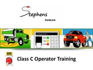 Class C Operator Training