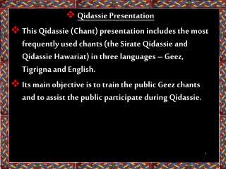 Qidassie Presentation