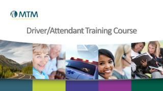 Driver/Attendant Training Course