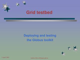 Grid testbed