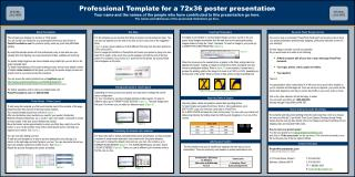 Professional Template for a 72x36 poster presentation