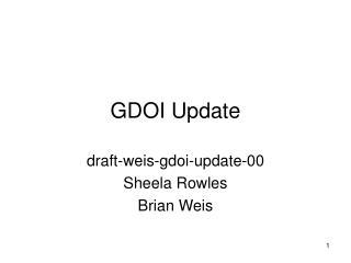 GDOI Update