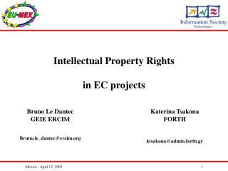 Intellectual Property Rights in EC projects