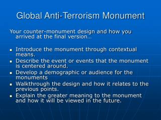 Global Anti-Terrorism Monument