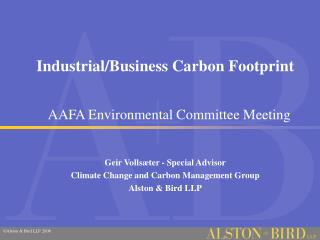 Industrial/Business Carbon Footprint
