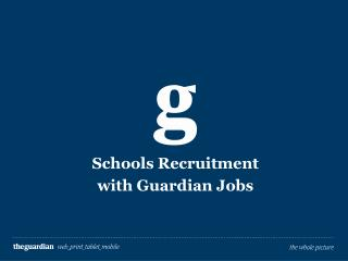Schools Recruitment with Guardian Jobs