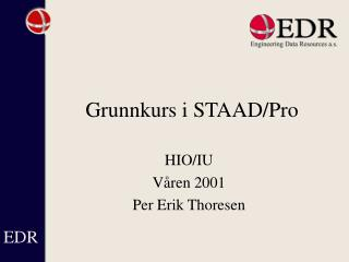 Grunnkurs  i STAAD/Pro