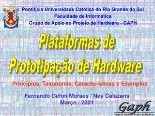 Plataformas de Prototipação de Hardware